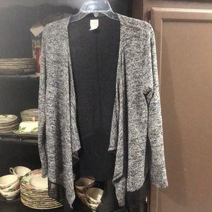 Lightweight Gray Sweater with black net underlay